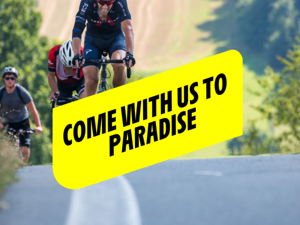 Come with us to camp in Paradise!