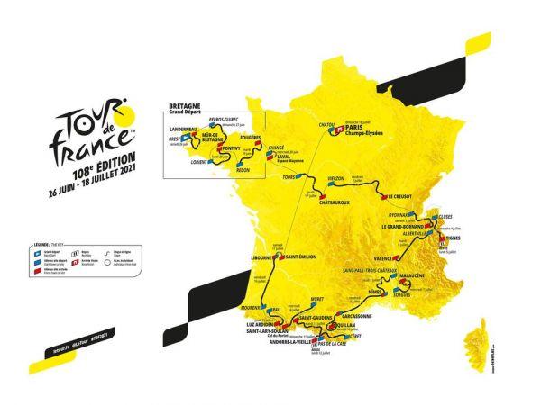 Tour de France 2021 Route