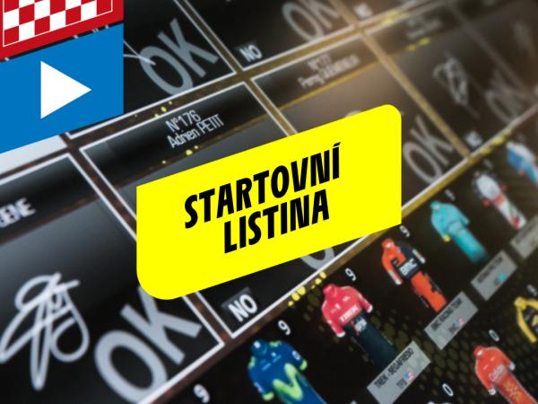 První verze Startovní listiny publikována
